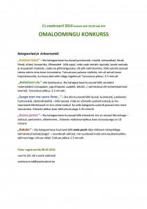 Omaloomingu konkurss 2016